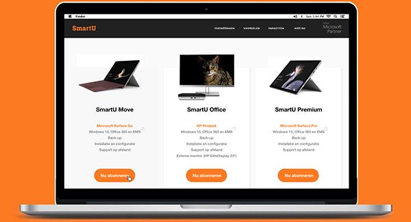 Zorgeloos aan het werk met SmartU, onze unieke Desktop-as-a-Service